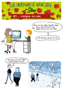 Les incroyables aventures de Steve - l'origine du nom Apple part1